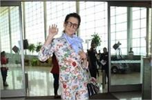 एयरपोर्ट पर ऑफिस लुक में स्पार्ट हुई कंगना, दिखा Cool Look