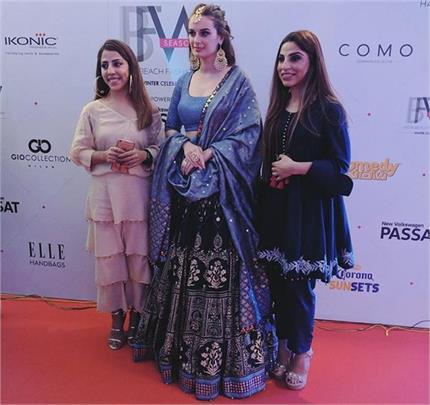 इंडिया बीच फैशन वीकः ब्राइडल लुक में Evelyn ने की रैंप वॉक