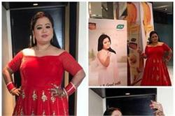 रेड गाउन पहनकर इवेंट में पहुंची Bharti Singh