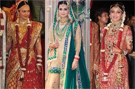 बिपाशा ने शादी पर पहनी 7 लाख की साड़ी, इन एक्ट्रैस के वैडिंग ड्रैस की...