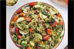20 मिनट में बनाकर खाएं टेस्टी-टेस्टी रेनबो वैजी पास्ता सैलेड