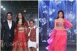 रेड ड्रेस में करिश्मा ने की वॉक, मॉडर्न स्टाइल लहंगे में दिखी जैकलीन-मलाइका