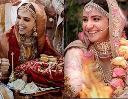 Wedding Look: दीपिका ही नहीं, इन 6 एक्ट्रेस ने भी चुना सब्यसाची का...