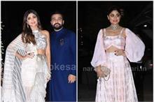 Diwali Bash: शिल्पा की पार्टी में इंडो-वेस्टर्न ड्रेस कोड...