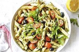 20 मिनट में बनाकर खाएं Pesto Pasta Salad