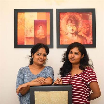 हल्तशिल्प कला को नए मुकाम तक ले जा रही हैं दो बहनें