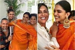 दीपिका के घर शुरू हुईं शादी की रस्में, सब्यसाची ड्रेस व ओवरसाइज ईयररिंग में दिखीं स्टनिंग