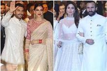 Isha-Anand Wedding: ऑफ व्हाइट लहंगे में बेबो तो गोल्डन...