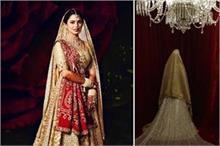 शादी में डिजाइनर अबू जानी संदीप खोसला के लंहगे में दिखी...