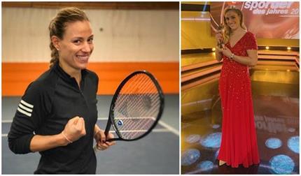 महिला टेनिस प्लेयर एंजेलिका कर्बर ने जीता एथलीट्स ऑफ द ईयर अवॉर्ड
