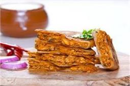 ब्रेकफास्ट में बनाएं स्पैशल Butter Chicken Prantha