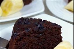 आसानी से बनाएं Eggless Chocolate Banana Cake