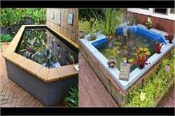 गार्डन में इन यूनिक तरीकों से बनवाएं Small Fish Pond