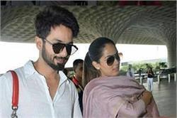 एयरपोर्ट पर शाहिद के साथ बेबी बंप फ्लॉन्ट करती दिखी मीरा