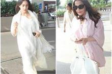 मॉम अमृता के साथ एयरपोर्ट पर स्पॉट हुईं सारा, देखे तस्वीरें