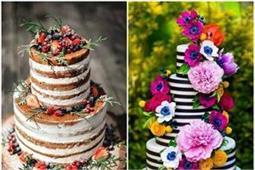 Wedding Cake! ट्राई करें ये यूनिक फ्लावर और फ्रूट केक