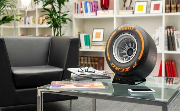 Pirelli ने बनाया टायर की शेप वाला ब्लूटूथ स्पीकर