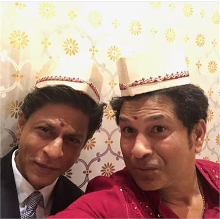 शाहरुख खान और सचिन तेंदुलकर की वायरल हुईं सेल्फी, लोगों ने किए एेसे...