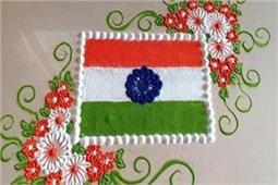 स्वतंत्रता दिवस पर इन रंगोली डिजाइन्स से घर को दें Tricolour look