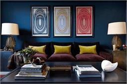 लिविंग रूम में Blue का टच आपके घर को देगा मॉडर्न लुक