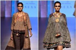 LFWwf18: डिजाइनर जोड़ी राहुल और शिखा ने पेश की इंडो-वैस्टर्न कलैक्शन