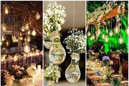 आउटडोर वैडिंग के लिए यूं करें Bulb Decoration
