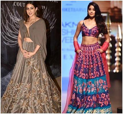 नई फैशन दीवाज बनी सारा और जाह्नवी,आपको किसकी Outfits हैं पसंद?-Nari