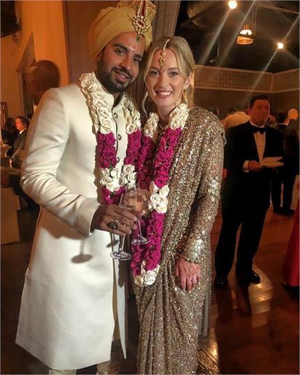Watch Pics: अमेरिकन दुल्हन ने अपनी शादी में पहनी सब्यसाची की साड़ी -...