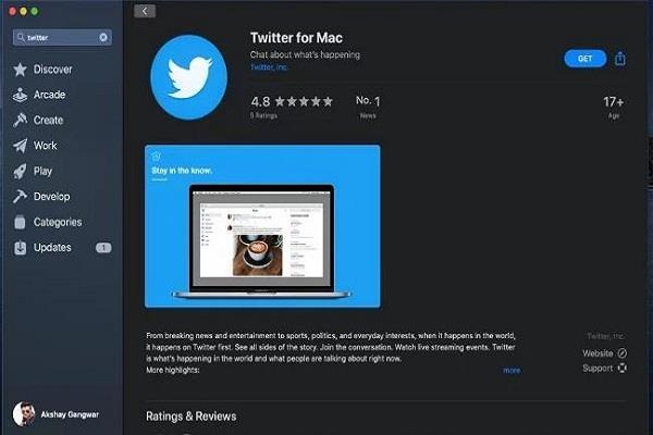 Mac पीसी के लिए ट्विटर ऐप हुआ रीलॉन्च