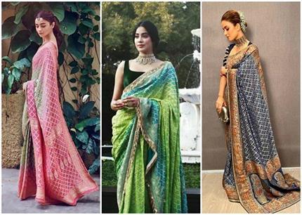 नताशा-आलिया और जान्हवी ने पहनी एक जैसी साड़ी, कौन लग रहा है बेहतर?
