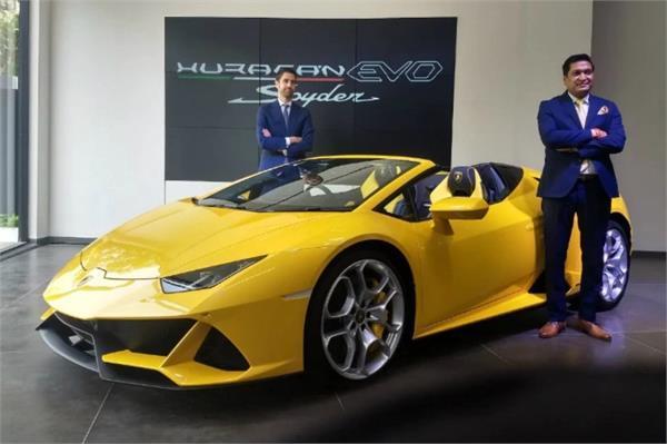 भारत में लॉन्च हुई 2019 Lamborghini Huracan Evo Spyder, कीमत 4.1 करोड़ रुपए
