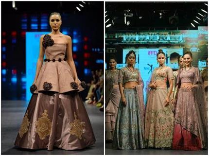 इंडिया रनवे वीक: दुल्हन बन रैंप पर उतरीं मॉडल्स, तीसरे दिन डिजाइनर्स...
