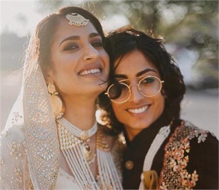भारतीय-पाकिस्तानी की लेस्बियन वेडिंग, एक ने पहनी शेरवानी तो दूसरी ने...