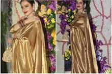 दीवा की मॉडर्न लुक पर भारी पर रेखा की Golden कांजीवरम साड़ी