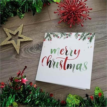 क्रिसमस पर बनाए स्पेशल कार्ड, फॉलो करें ये आसान से टिप्स