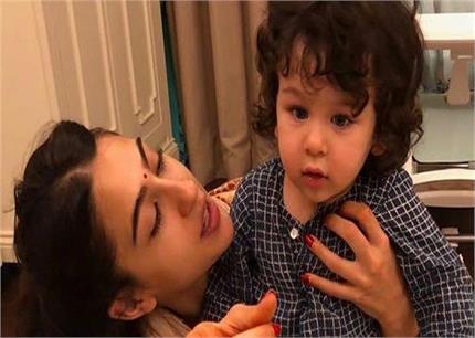 छोटे भाई तैमूर के साथ मस्ती करती नजर आई सारा, बर्थडे पर शेयर की फोटो