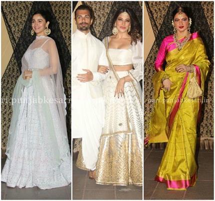 Sakshi Bhatt Reception: आलिया ने लूटी लाइमलाइट, श्रद्धा का स्टाइल...