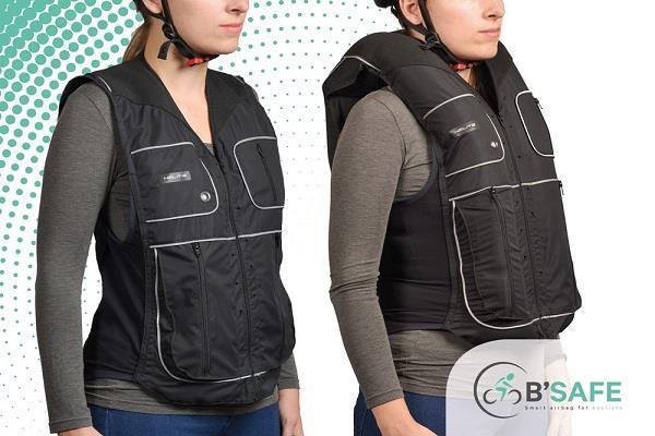 दुर्घटना होने पर चालक की जिंदगी बचाएगी Airbag cycling vest