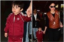 एयरपोर्ट पर मम्मी करीना के साथ स्पॉट हुए तैमूर, दोनों का...