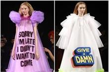 latest Fashion: टी-शर्ट नहीं, अब छाएगा Slogan Gown का ट्रेंड