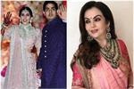 Akash-Shloka Wedding: शुरू हुआ जश्न, सब्यासाची की ड्रेस में दिखी नीता...