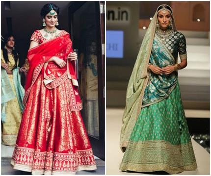बनारसी लहंगे का फैशन है एवरग्रीन,  यूं Reuse करें पूरानी साड़ी (See...