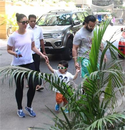 करीना-सैफ के साथ एंजॉय करते दिखें नन्हे तैमूर अली खान, See Photos