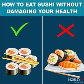 फेसम डिश 'सुशी' कैसे खाना है लाभदायक