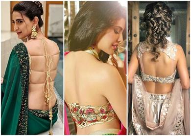 sexy backless blouse designs