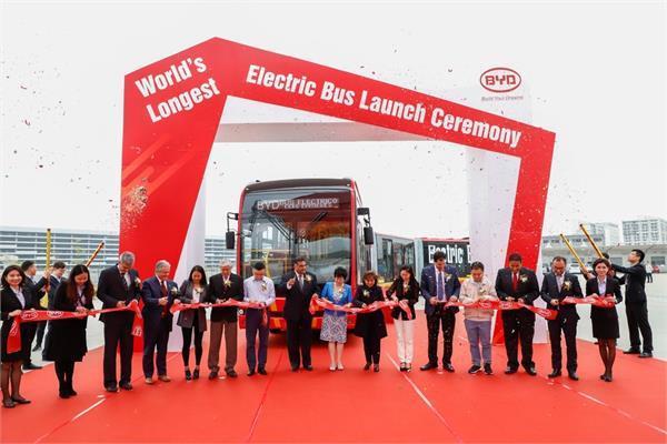 दुनिया की सबसे लम्बी इलैक्ट्रिक बस, एक साथ 250 यात्रियों को करवाएगी सफर