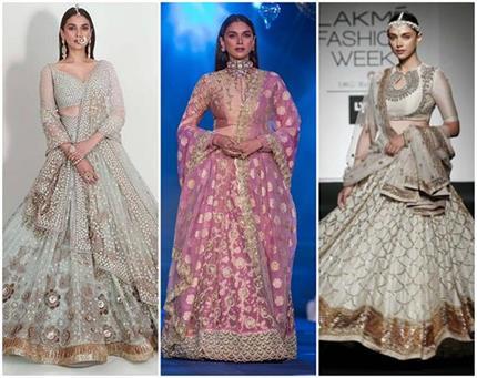 Fashion: अदिति के 12 लहंगे, Royal Look के लिए परफेक्ट