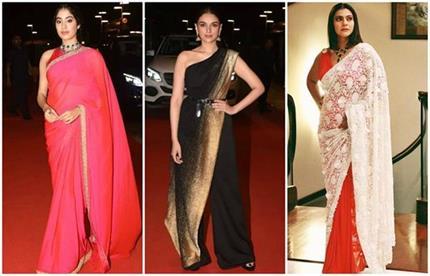 Dadasaheb Awards: साड़ी में जाह्नवी ने लूटी लाइमलाइट, वहीं काजोल ने...