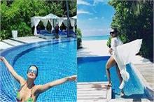 मलाइका, बेबो और हिना Maldives डेस्टिनेशन में मनाती हैं...