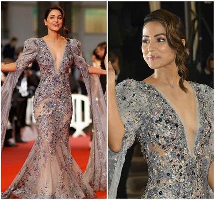 टीवी एक्ट्रेस हिना खान की कांस में एंट्री, पहले दिन पहली ड्रेस से...